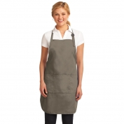 Port Authority A703 Easy Care Full-Length Apron with Stain Release - Khaki