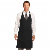 Port Authority A704 Easy Care Tuxedo Apron with Stain Release - Black