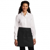 Port Authority A706 Easy Care Half Bistro Apron with Stain Release - Black