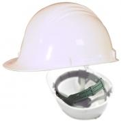 North A79 Peak Hard Hat - Nylon Suspension with Pinlock Adjustment - White