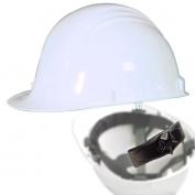 North A79R Peak Hard Hat - Nylon Suspension with Ratchet Adjustment - White