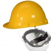 North A79R Peak Hard Hat - Nylon Suspension with Ratchet Adjustment - Yellow
