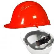 North A79R Peak Hard Hat - Nylon Suspension with Ratchet Adjustment - Orange