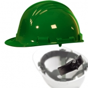 North A79R Peak Hard Hat - Nylon Suspension with Ratchet Adjustment - Dark Green
