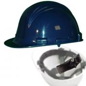 North A79R Peak Hard Hat - Nylon Suspension with Ratchet Adjustment - Navy Blue