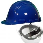 North A79R Peak Hard Hat - Nylon Suspension with Ratchet Adjustment - Royal Blue
