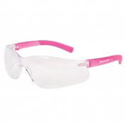 Crews BK220 BearKat Small Safety Glasses - Pink Temples - Clear Lens