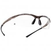 Bolle 40044 Contour Safety Glasses - Dark Gunmetal Frame - Clear Anti-Fog Lens