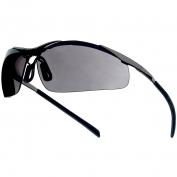 Bolle 40050 Contour Metal Safety Glasses - Silver Metal Temples - Smoke Anti-fog Lens