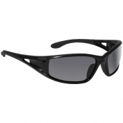 Bolle 40052 Lowrider Safety Glasses - Black Temples - Smoke Anti-Fog Lens