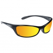 Bolle 40069 Spider Safety Glasses - Dark Gunmetal Temples - Red Mirror Lens