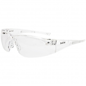 Bolle 40070 Rush Safety Glasses - Clear Temples - Clear Anti-Fog Lens