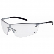 Bolle 40073 Silium Safety Glasses - Silver Metal Temples - Clear Anti-Fog Lens