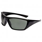 Bolle 40149 Hustler Safety Glasses - Black Temples - Smoke Anti-Fog Lens