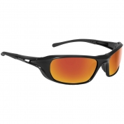 Bolle 40159 Shadow Safety Glasses - Black Temples - Red Mirror Lens