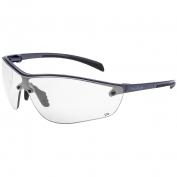 Bolle 40237 Silium+ Safety Glasses - Gunmetal/Black Temples - Clear Anti-Fog Lens