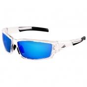 Bullhead BH1419AF Maki Safety Glasses - Clear Frame - Blue Mirror Anti-Fog Lens