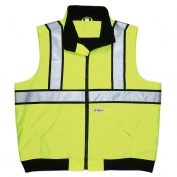 River City BWCL2L Class 2 Body Warmer Safety Vest - Yellow/Lime
