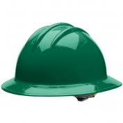 Bullard C33FGR Classic Full Brim Hard Hat - Ratchet Suspension - Forest Green