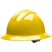 Bullard C33YLR Classic Full Brim Hard Hat - Ratchet Suspension - Yellow