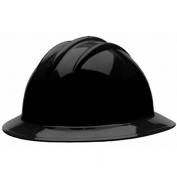Bullard C34BKP Classic Full Brim Hard Hat - Ratchet Suspension - Black