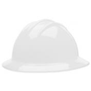 Bullard C34WHR Classic Full Brim Hard Hat - Ratchet Suspension - White