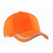 Port Authority C836 Enhanced Visibility Cap - Safety Orange/Reflective