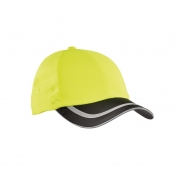 Port Authority C836 Enhanced Visibility Cap - Safety Yellow/Black/Reflective