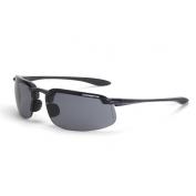 CrossFire ES4 Safety Glasses - Black Frame - Smoke Lens