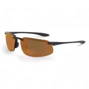 CrossFire 2161RX ES4 Safety Glasses - Black Frame - Brown Bifocal Lens