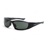 CrossFire MP7 Safety Glasses - Black Frame - Smoke Polarized Lens