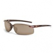 CrossFire ES5 Safety Glasses - Brown Frame - Brown Mirror Lens