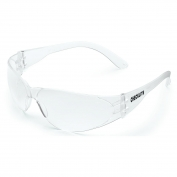 Crews CL010 Checklite Safety Glasses - Clear Temples - Clear Uncoated Lens