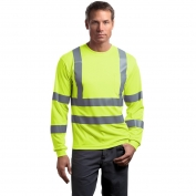 CornerStone CS409 Class 3 Long Sleeve Safety T-Shirt - Yellow/Lime