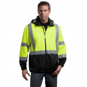 CornerStone CSJ25 Class 3 Safety Windbreaker - Yellow/Lime