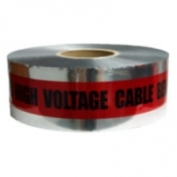 CAUTION BURIED HIGH VOLTAGE CABLE BELOW - Detectable Underground Warning Tape