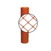 Resinet Diamond Crowd Control Fence - Orange- 4 ft x 100 ft