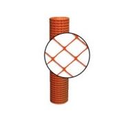 Resinet Diamond Crowd Control Fence - Orange- 4 ft x 50 ft