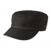 District DT605 Distressed Military Hat - Black