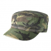 District DT605 Distressed Military Hat - Military Camo