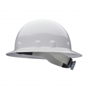 Fibre Metal E1RW Full Brim Hard Hat - Ratchet Suspension - White