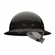 Fibre Metal E1SW Full Brim Hard Hat - SwingStrap Suspension - Black