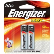 AA Energizer Batteries, Max Line, 2-pack