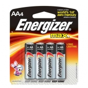 AA Energizer Batteries, Max Line, 4-pack