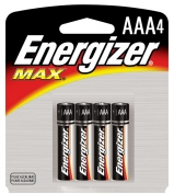 AAA Energizer Batteries, Max Line, 4-pack