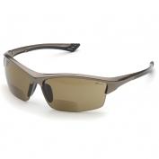 Elvex RX-350BR Sonoma Safety Glasses - Glossy Bronze Frame - Brown Anti-Fog Bifocal Lens