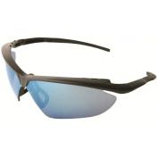 ERB Nightfire Safety Glasses - Black Frame - Blue Mirror Lens