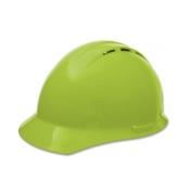 ERB 19250 Americana Vented Hard Hat - 4-Point Pinlock Suspension - Hi-Viz Lime
