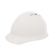 ERB 19451 Americana Vented Hard Hat - 4-Point Ratchet Suspension - White