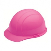 ERB 19769 Americana Hard Hat - 4-Point Pinlock Suspension - Hi-Viz Pink